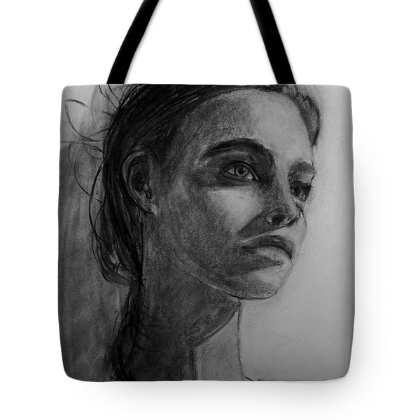 Tote Bag featuring the painting In This Silence I Believe by Jarko Aka Lui Grande