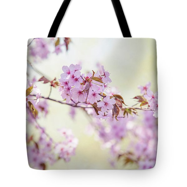 Tote Bag featuring the photograph In Tender Bloom. Spring Watercolors by Jenny Rainbow