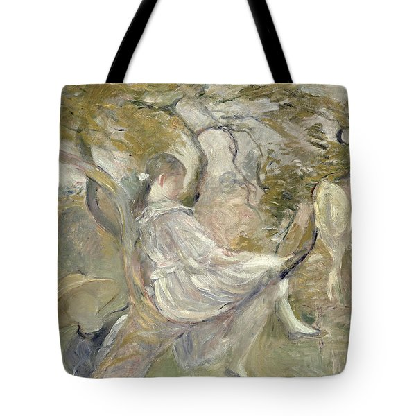 In The Apple Tree Tote Bag by Berthe Morisot