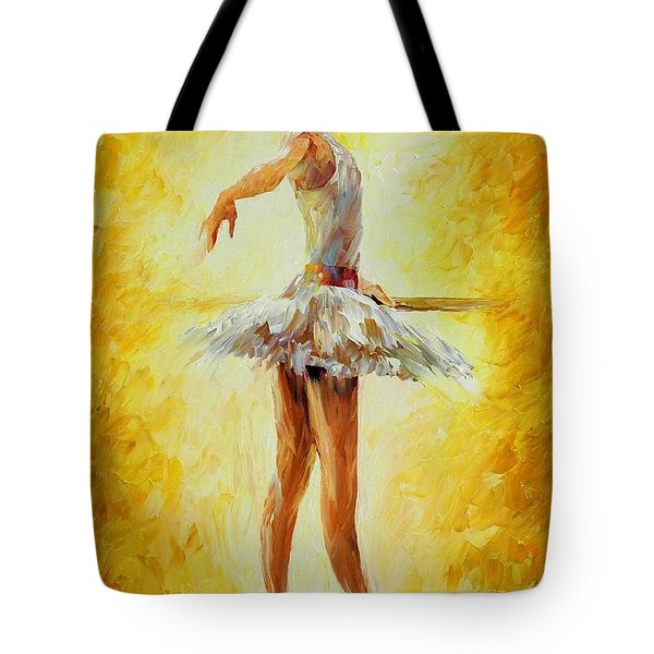 In The Ballet Class Tote Bag by Leonid Afremov