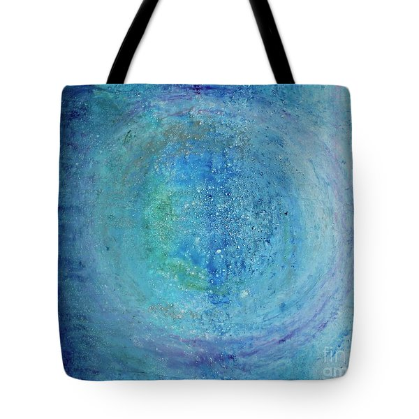 Tote Bag featuring the painting In The Beginning, Cosmic by Kim Nelson
