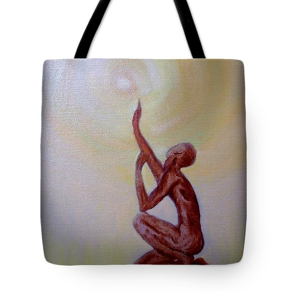 In The Beginning Tote Bag by Marlene Book