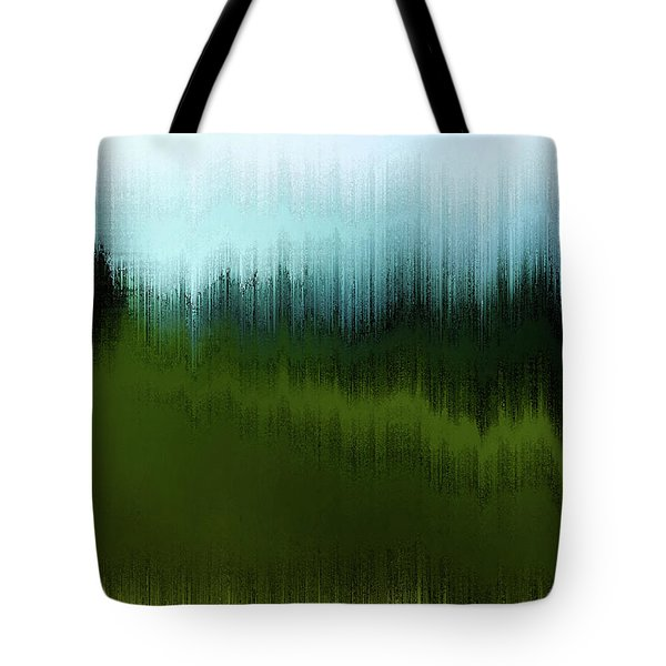 Tote Bag featuring the digital art In The Black Forest by Gina Harrison