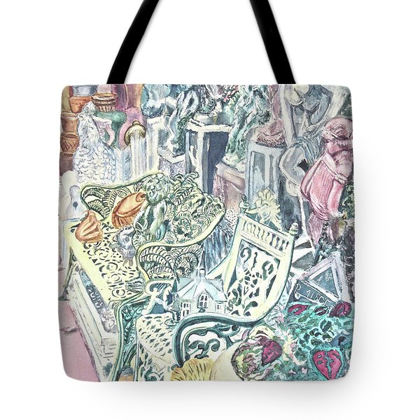 In The Cement Garden Tote Bag by Vickie G Buccini