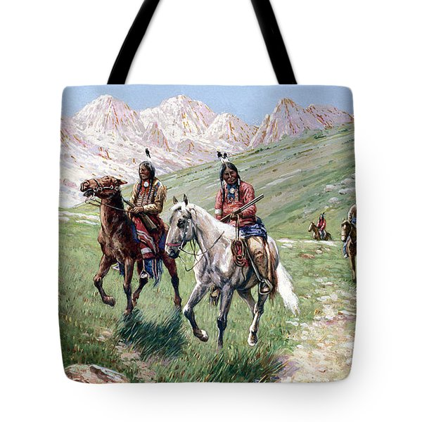 In The Cheyenne Country Tote Bag by John Hauser