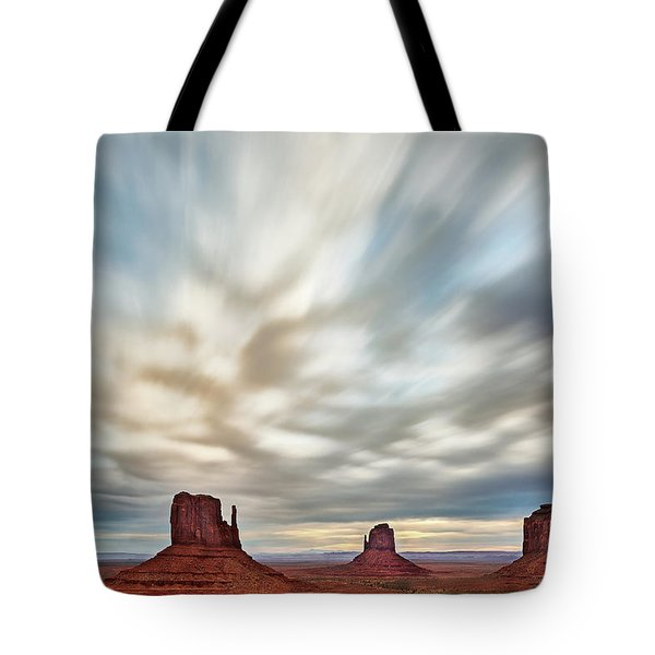 Tote Bag featuring the photograph In The Clouds by Jon Glaser