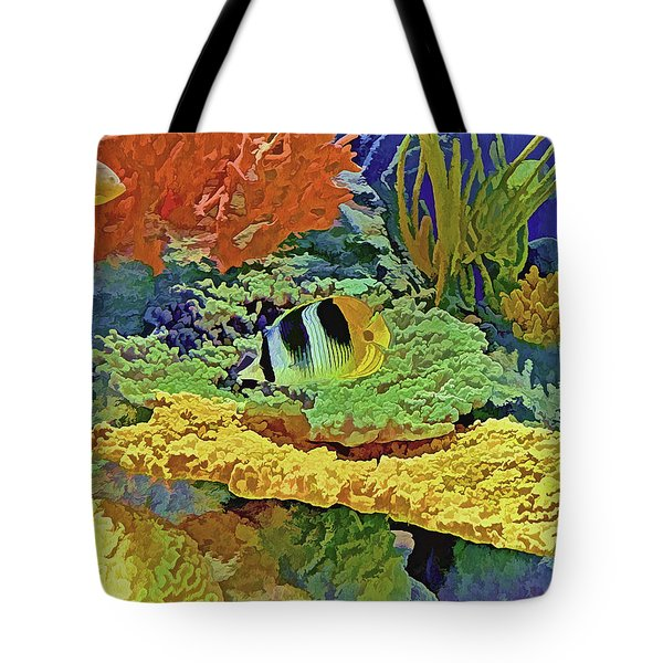 Tote Bag featuring the photograph In The Coral Garden 10 by Lynda Lehmann