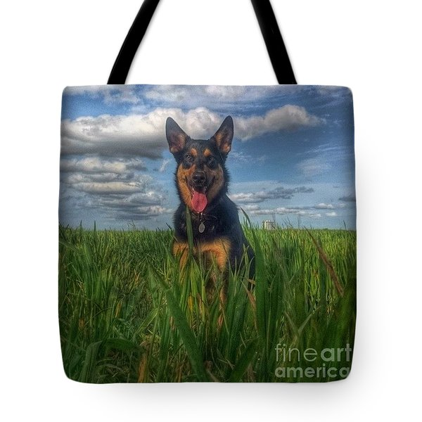 In The Country. #dogs  #gsd Tote Bag