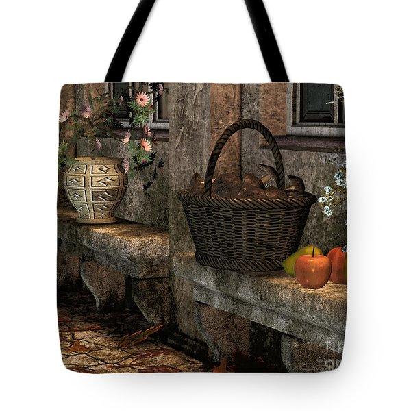 In The Courtyard Tote Bag by Jutta Maria Pusl