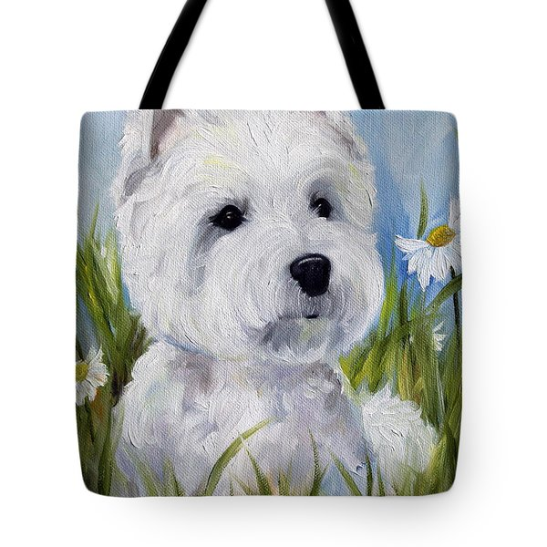 In The Daisies Tote Bag by Mary Sparrow