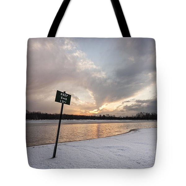 In The Deep End Tote Bag