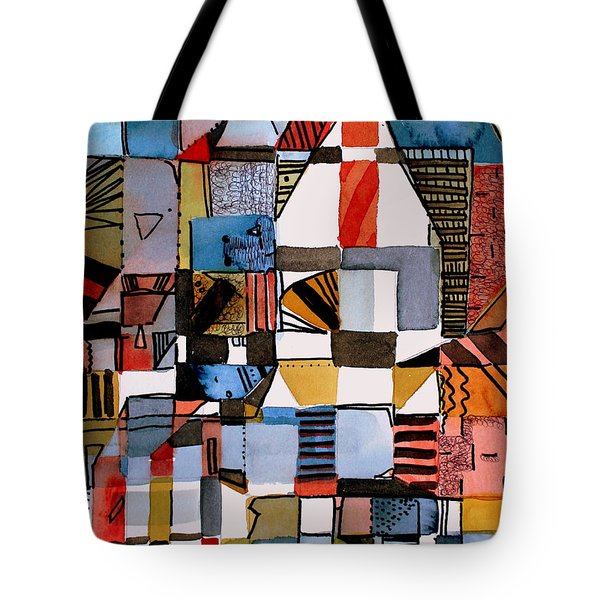 In The Dog House Tote Bag by Mindy Newman