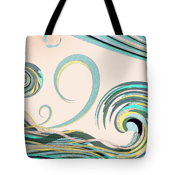 Tote Bag featuring the digital art In The Drink by Deborah Smith