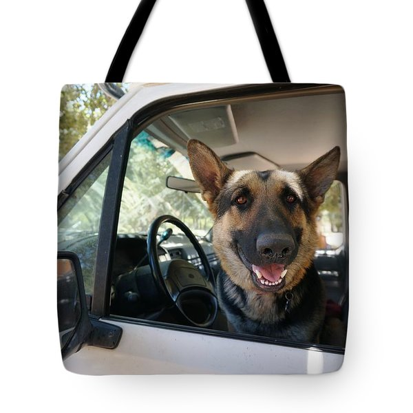 In The Driver's Seat  Tote Bag