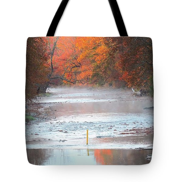 In The Early Morning Mist Tote Bag