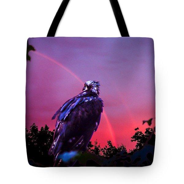 In The Eye Of A Hawk Tote Bag