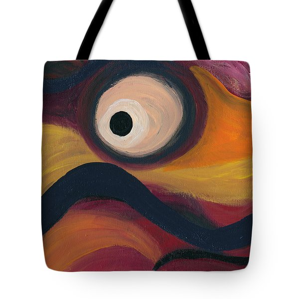Tote Bag featuring the painting In The Eye Of The Hurricane by Ania M Milo
