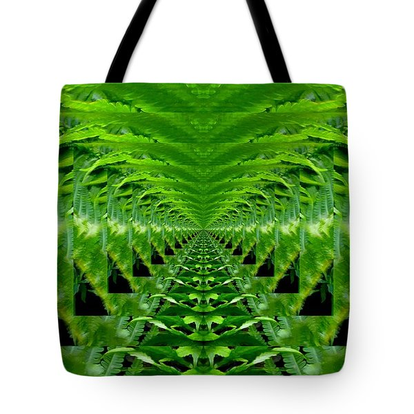 Tote Bag featuring the digital art In The Ferns 7  by Lyle Crump