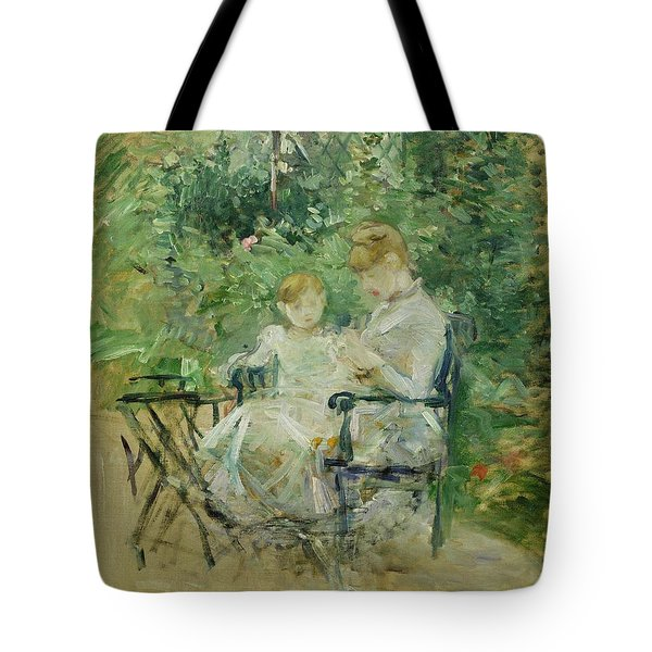 In The Garden Tote Bag by Berthe Morisot