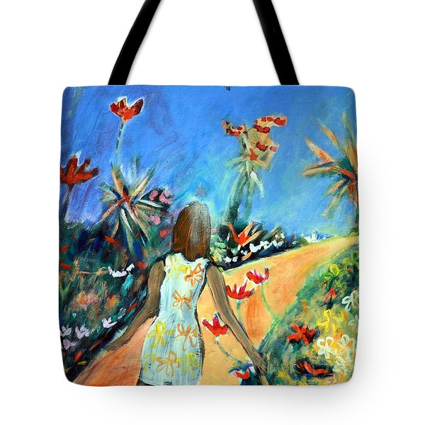 In The Garden Of Joy Tote Bag by Winsome Gunning
