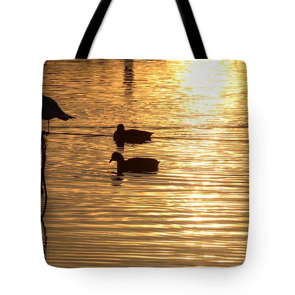 In The Golden Pool Tote Bag
