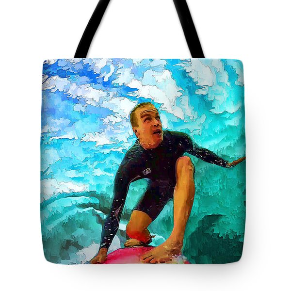 In The Green Room With Jamie O'brien Tote Bag by ABeautifulSky Photography