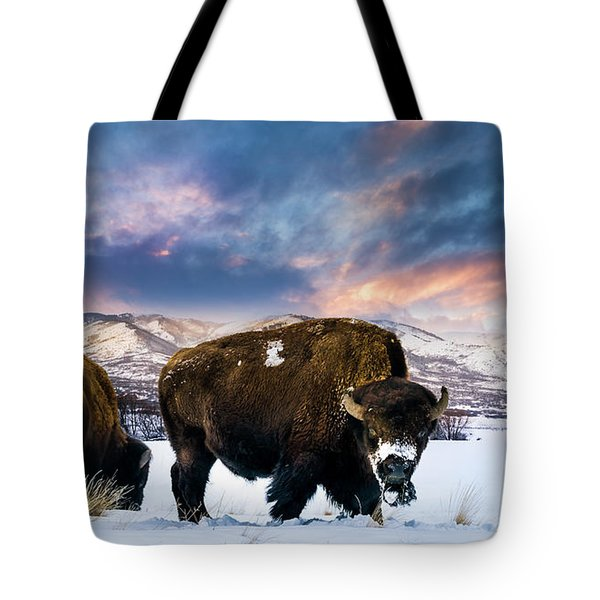 In The Grips Of Winter Tote Bag