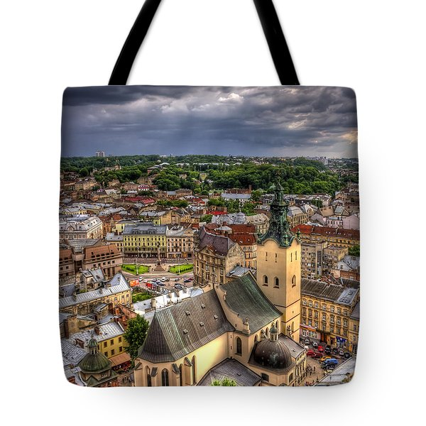 In The Heart Of The City Tote Bag