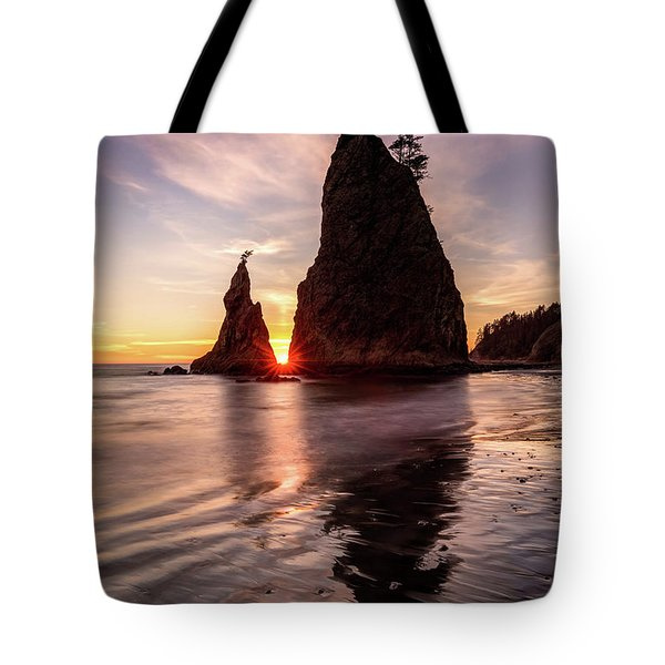 Tote Bag featuring the photograph In The Heart Of The Sea Stacks by Pierre Leclerc Photography