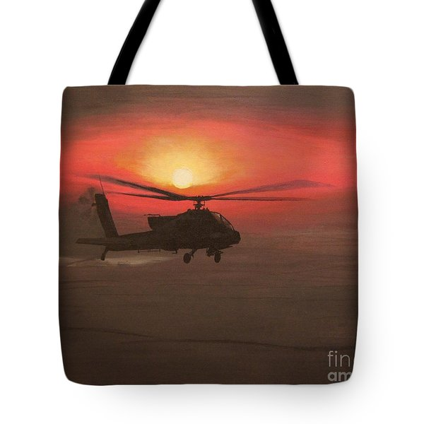 In The Heat Of Night Over Baghdad Tote Bag