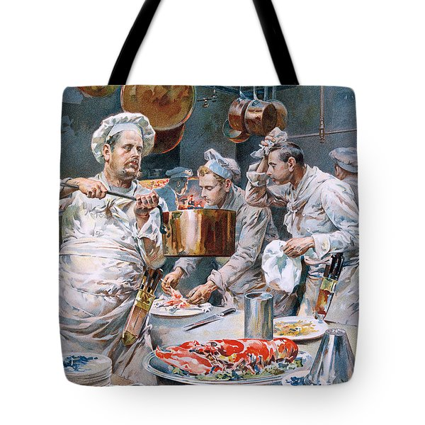 In The Kitchen Tote Bag by G Marchetti