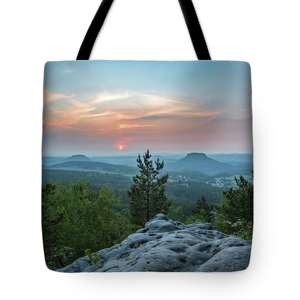 In The Land Of Mesas Tote Bag by Andreas Levi
