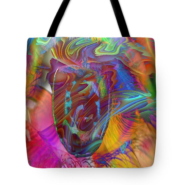 Tote Bag featuring the mixed media In The Light by Kevin Caudill