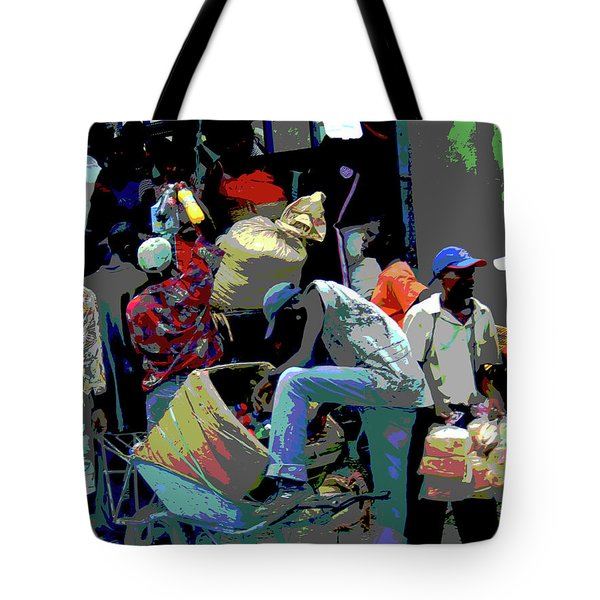In The Market Place Tote Bag by B Wayne Mullins