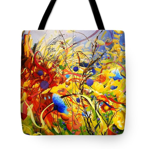 In The Meadow Tote Bag by Georg Douglas
