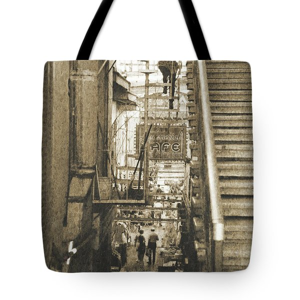 Tote Bag featuring the photograph In The Middle by Charles McKelroy