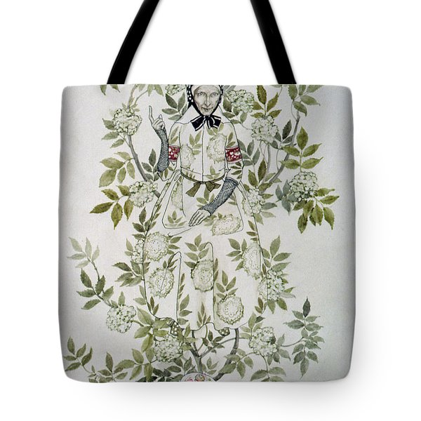 In The Midst Of A Tree Sat A Kindly Looking Old Woman' Tote Bag by Arthur Rackham