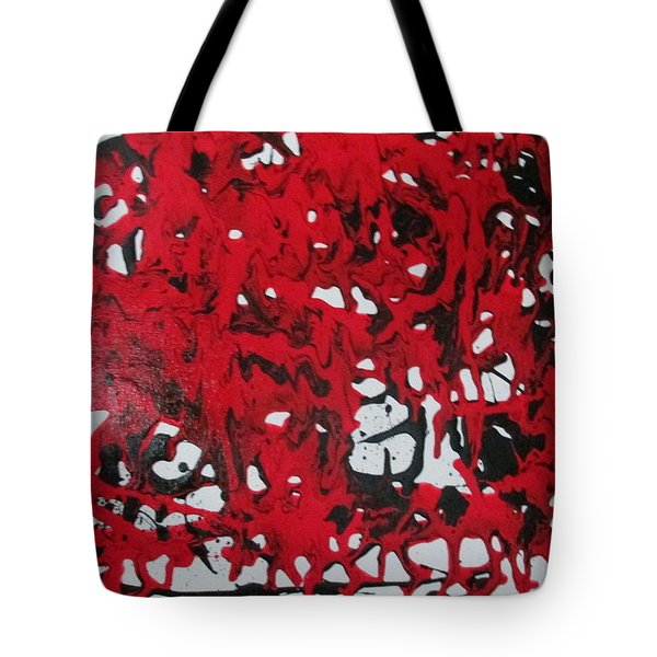 Tote Bag featuring the painting In  The Midst Of Passion by Sharyn Winters