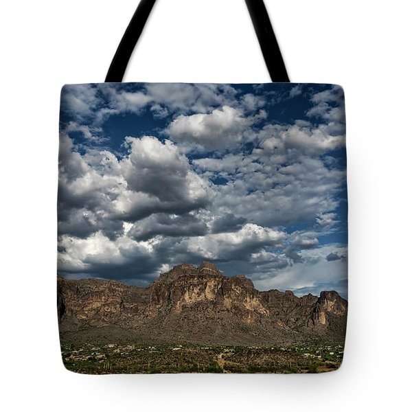 Tote Bag featuring the photograph In The Midst Of The Superstitions  by Saija Lehtonen