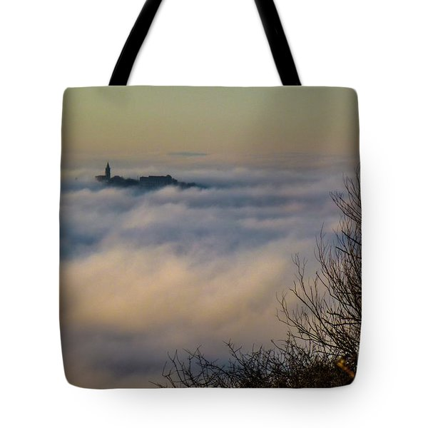 In The Mist 1 Tote Bag by Jean Bernard Roussilhe