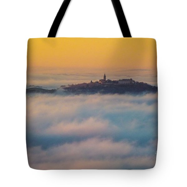 In The Mist 3 Tote Bag by Jean Bernard Roussilhe