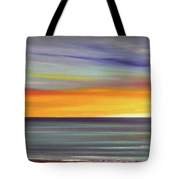 In The Moment Panoramic Sunset Tote Bag by Gina De Gorna