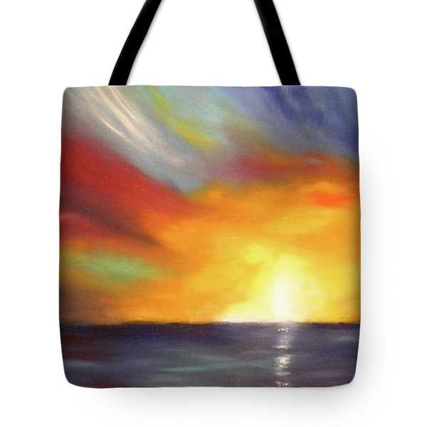 In The Moment - Vertical Sunset Tote Bag