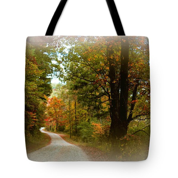In The Mountains Of Georgia Tote Bag by Sharon Batdorf