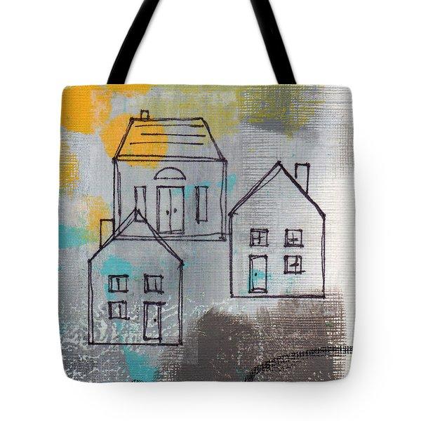 In The Neighborhood Tote Bag by Linda Woods