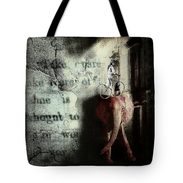 Tote Bag featuring the digital art In The Night Nursery by Delight Worthyn
