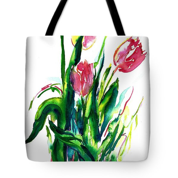 In The Pink Tulips Tote Bag