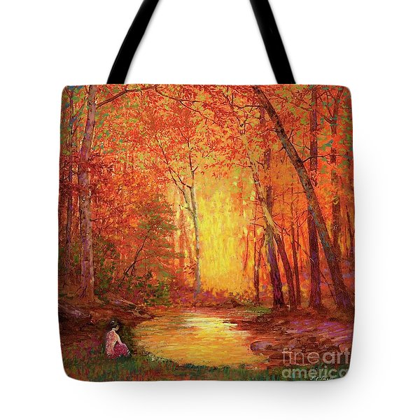 In The Presence Of Light Meditation Tote Bag