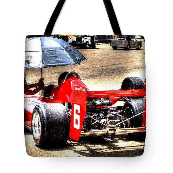 In The Queue Tote Bag by Josh Williams
