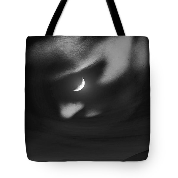 In The Quiet Of Your Mind Black Tote Bag by ISAW Gallery